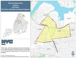 Yonkers Zip Code Map by Mosquito Spraying Events Schedule