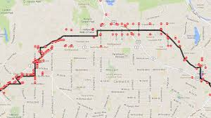 Street Map Of Los Angeles by Los Angeles Marathon 2014 Street Closures Abc7 Com
