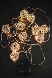 Battery String Lights With Timer by Wire Ball Battery Op Led String Lights 9ft 10ct