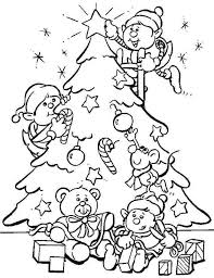 christmas presents tree free coloring pages