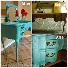 for love of the paint before and after aqua blue antique french