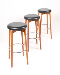 danish bar stools danish mid century teak bar stools 1960s set of 3 for sale at pamono