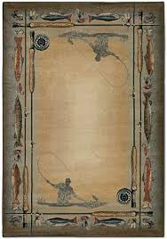 Fish Area Rug Mountain Trout Area Rug Western Decor Cabin Decor Lodge Decor