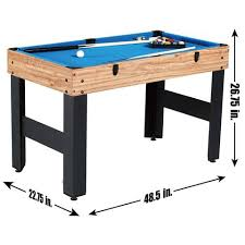 Pool Table Hard Cover Md Sports 48 Inch 3 In 1 Combo Game Table 3 Games With Billiards