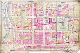 Pennsylvania Cities Map by City Of Scranton Pa Maps 1898 1918 1929