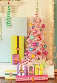 Bright Christmas Decorations Beautiful Pink Christmas Tree Decorating
