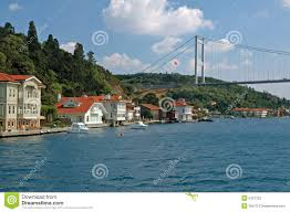 Bosphorus Strait Map Bosphorus Strait In Istanbul Turkey Royalty Free Stock Photo