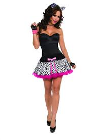 Halloween Costumes Zebra 80s Zebra Skirt