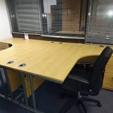 Corner Desk Beech Corner Desks Product Categories Office Furniture Wales
