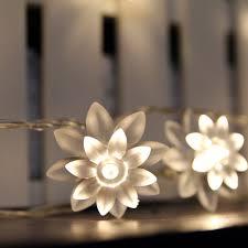 amazon com led string lights 4m 13feet 40 led lotus flower for