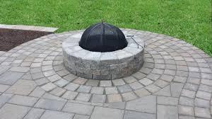 Custom Firepit Custom Firepit And Patio Design Ma Decorative Landscapes Inc
