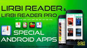 mobi reader for android lirbi reader and lirbi reader pro a special reader for android