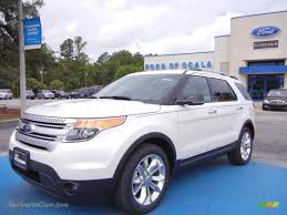 Ford Explorer White - 2013 ford explorer xlt in oxford white a70198 jax sports cars