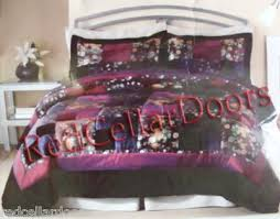 Purple Velvet Comforter New King Size Purple Velvet Satin Comforter Bed Set Ad 1685703