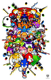 artwork sonic hedgehog sega