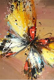 butterfly oil painting abstract oil painting hand painted canvas