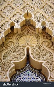 close middle east moroccan architecture traditional stock photo