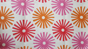 pink and oange home decor fabric cotton fabric girls room