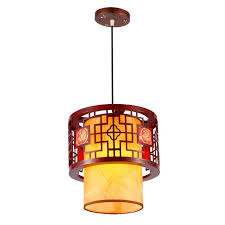 Large Pendant Lights Discount Chinese Style Wooden Teahouse Pendant Lamp Vintage