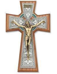 celtic crucifix celtic crucifix wall cross celtic crucifix walnut wood wall cross