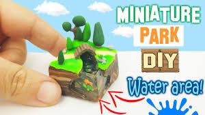 miniature diy park polymer clay resin tutorial jpg t u003d1484028761