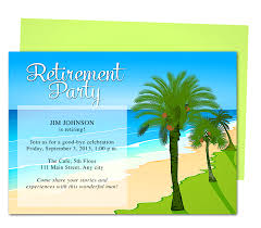 tropical oasis retirement party invitation templates use with