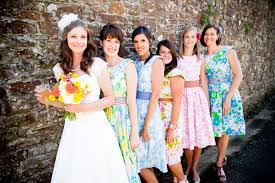 everything u0027s coming up roses floral bridesmaid dresses you
