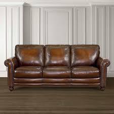 hamilton sofa leather living room bassett furniture
