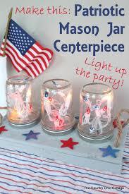 Jar Table L Patriotic Jar Centerpiece Jar Centerpieces Jar