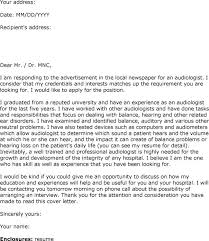 audiologist cover letter audiology cover letter audiologist cover