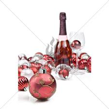 wine glass christmas ornaments purple christmas ornaments with sparkling wine gl stock images