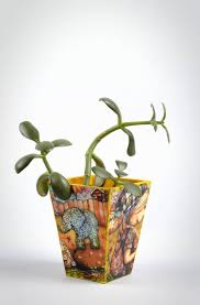 madeheart u003e handmade plywood flower pot interior decor flower pot