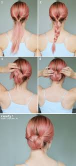 heatless hairstyles for thin hair try this braid variation for an easy elegant look perfect bun