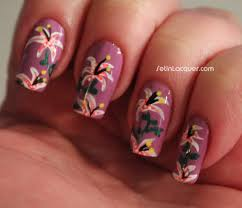 robin moses nail art lily flower nail art design tutorial lily