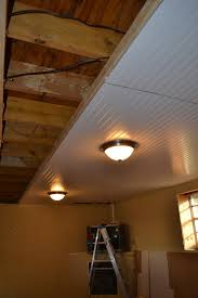 diy beadboard ceiling tutorial ceiling ceilings and basements