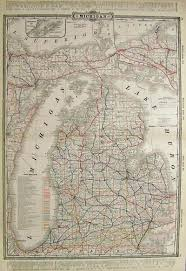 Upper Peninsula Michigan Map by Prints Old U0026 Rare Michigan Page