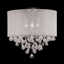 4 lamp drum shade flush mount ceiling light lighting
