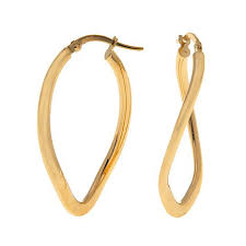 hoop earing passport to gold 14k yellow gold wavy oval hoop earrings 8467389