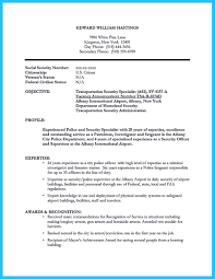 Security Guard Job Description For Resume by Security Cv Example Best Free Resume Collection