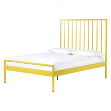Double Bed Frame Prices Lucia Yellow Metal Double Bed 135cm Buy Now At Habitat Uk