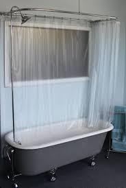 bathroom wondrous curved bath shower curtain rod rail 2 enchanting corner shower curtain rod walmart 141 claw foot tub wall clawfoot tub shower curtain rod