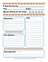 book report template elementary book report template on book