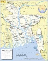 Michigan Area Code Map Political Map Of Bangladesh Nations Online Project