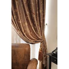 Brown Floral Curtains Beautiful Luxury Jacquard Brown Floral Polyester Curtains Buy