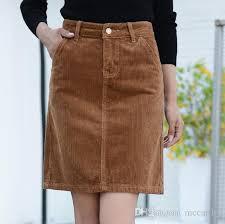 corduroy skirts 2018 corduroy casual skirts for women plus size empire gray khaki