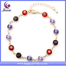 color stone bracelet images Beautiful design multi color austrian crystal women bracelet 18k jpg