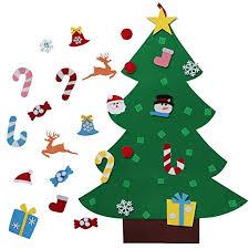 aerwo 3ft diy felt christmas tree set with 26 detachable ornaments