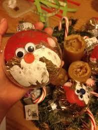 salt dough ornament recipe santa handprint gift tags ornaments