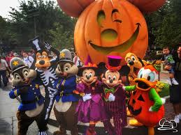 halloween time arrives at disneyland