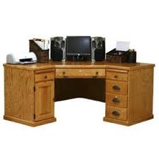 Oak Veneer Computer Desk Corner Computer Desk Foter